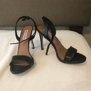 Black straps heels